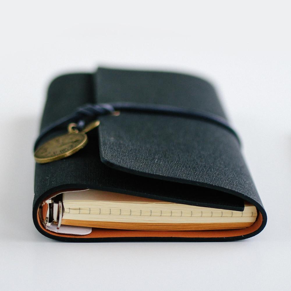 أجندة دفتر ملاحظات فنتج ريترو ساعة كشكول لون أسود هدية متجر هدايا