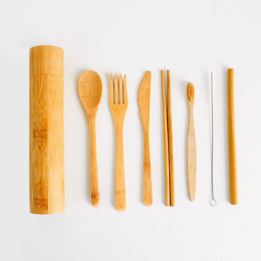 ملعقة طعام شوكة سكين خشب فرشاة أسنان سترو أفضل أنواع الخشب متجر نباتي