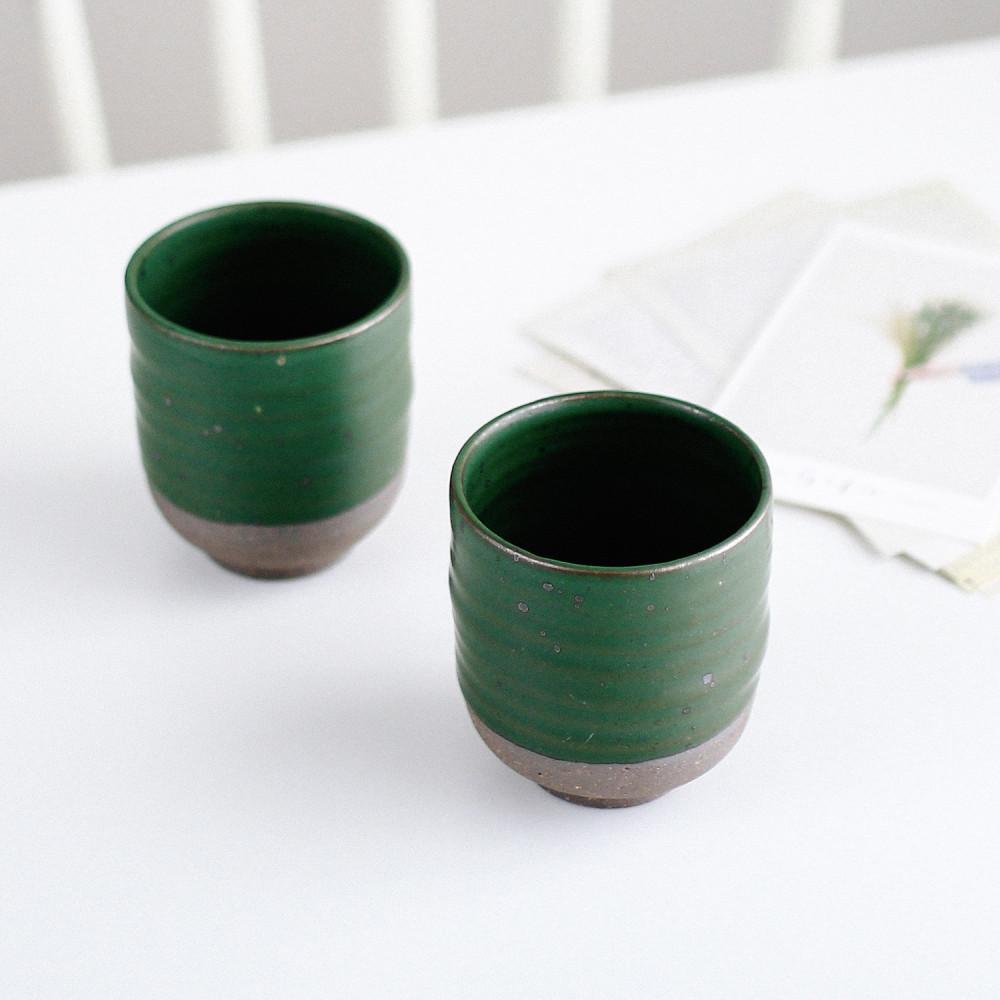 كوب عمل يدوي أكواب قهوة لاتيه كورتادو اسبريسو متجر أكواب خزف لون أخضر