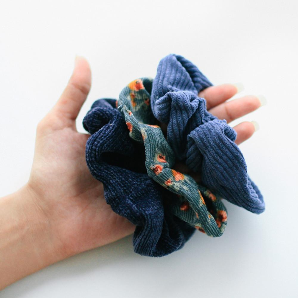 ربطة ربطات شعر أزرق اكسسوارات شعر أطفال للبنات للمدرسة للجامعة قماش