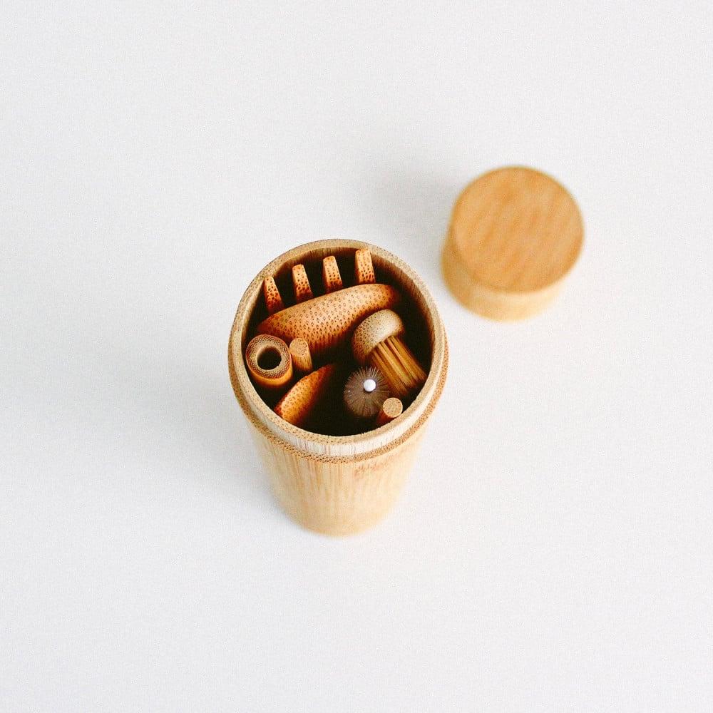 أدوات السفر أدوات هايكنج أدوات نباتيين أدوات فيقن فيجن أواني خشبية
