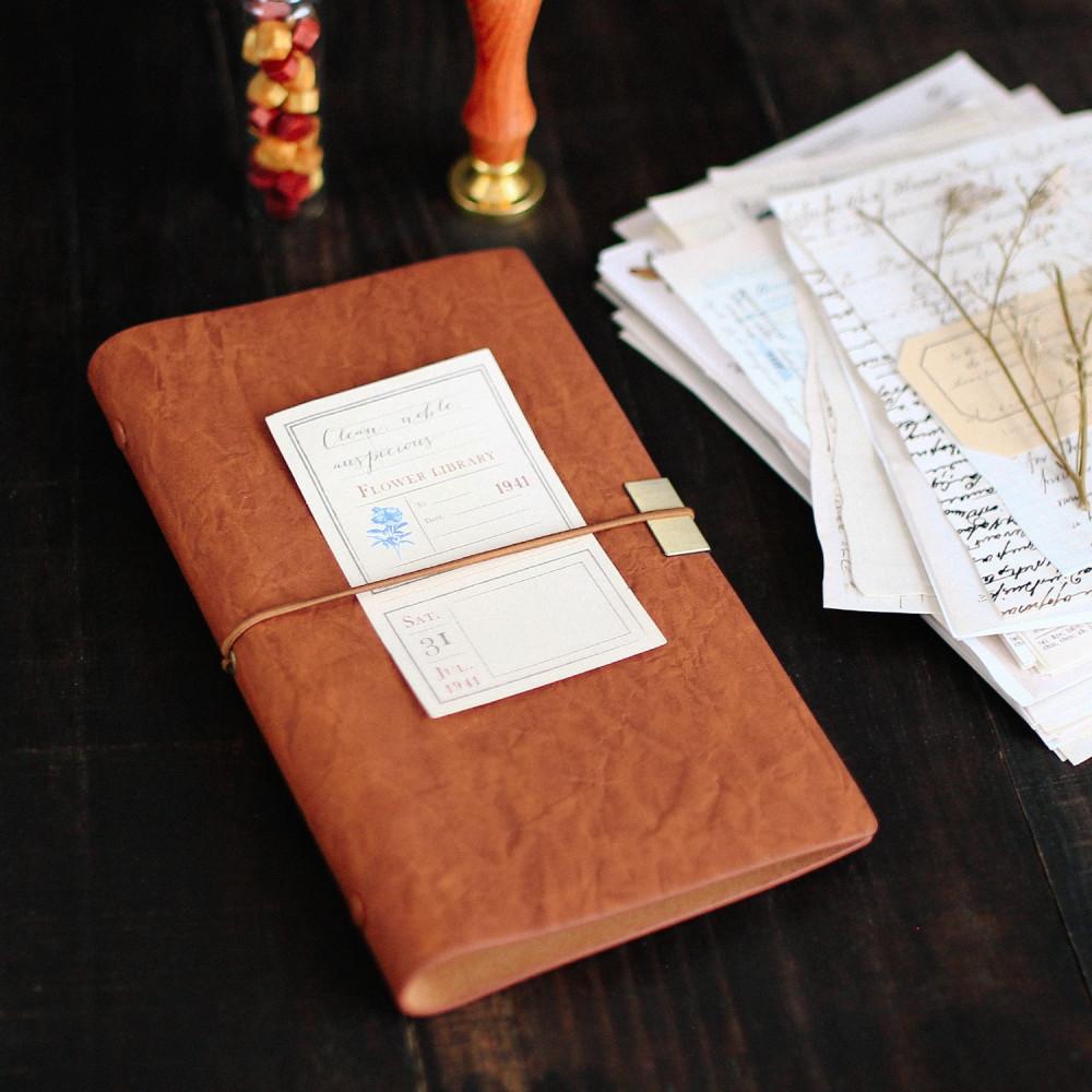 دفتر جلد فنتج بني دفتر ملاحظات هدايا رجالية نسائية مذكرات كشكول متجر