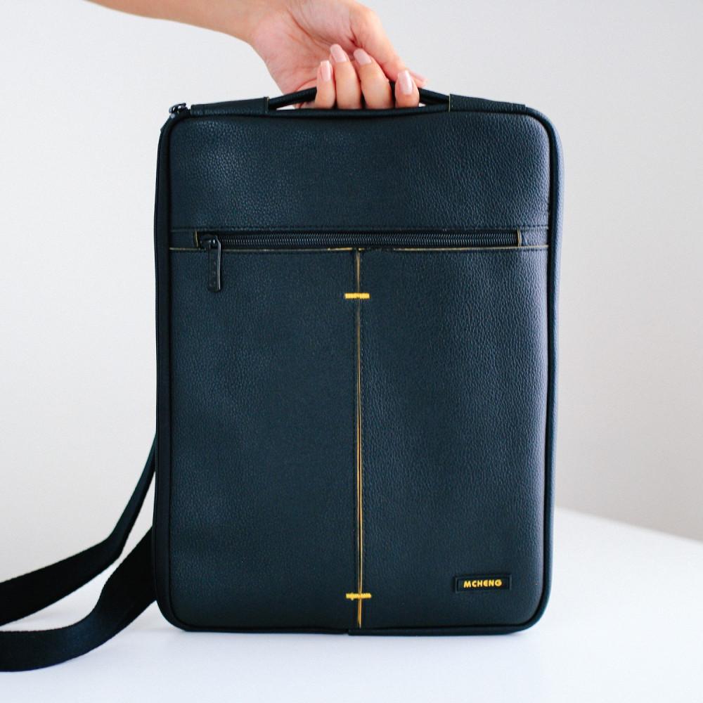 حقيبة لابتوب جلد رجالية نسائية حقائب كمبيوتر لابتوب 13 انش اكسسوارات