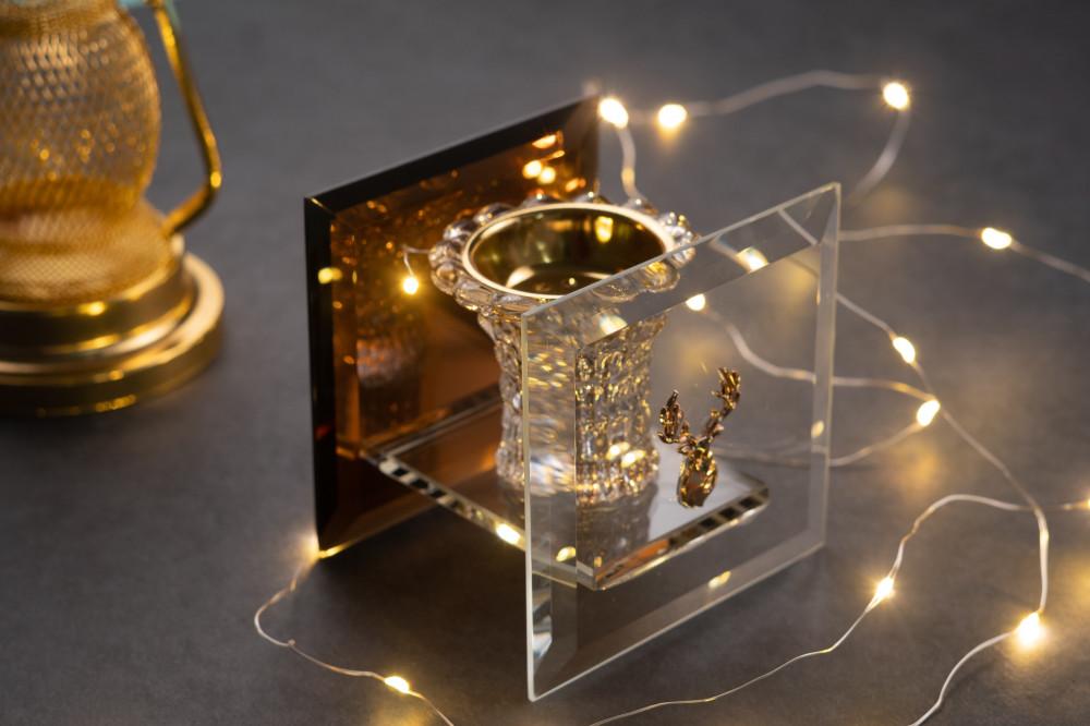 مبخرة زجاج بشعار غزال