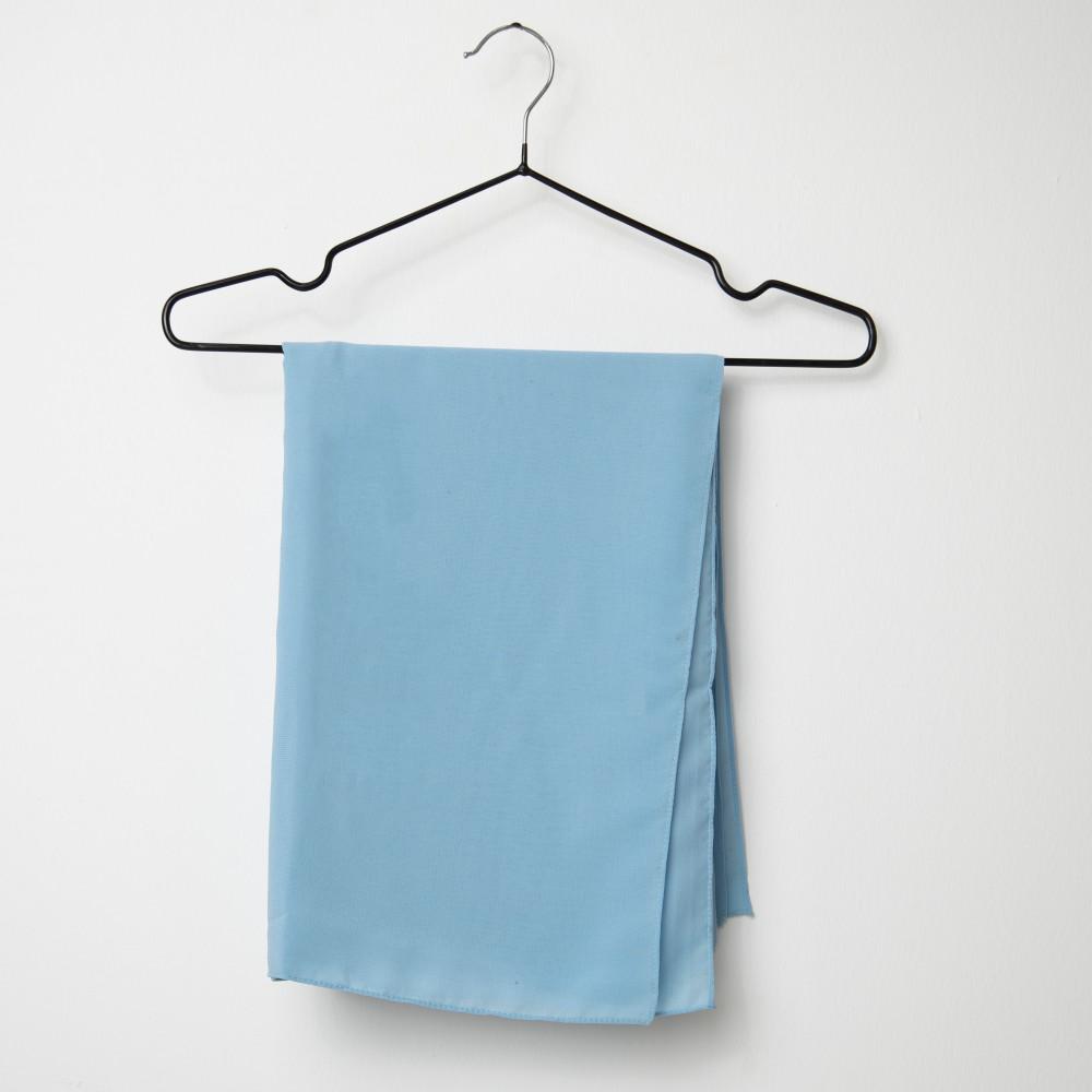 طرحه قماش فتنامي حرير ساده لون سماوي