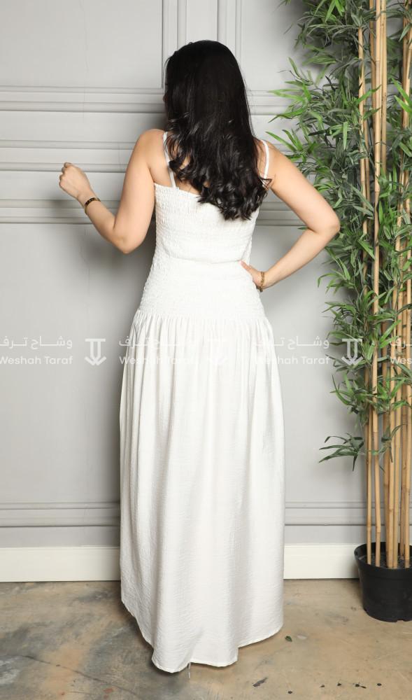 فستان تحت العباية قماش لنن