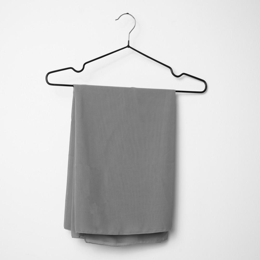 طرحه قماش فتنامي حرير ساده لون رمادي