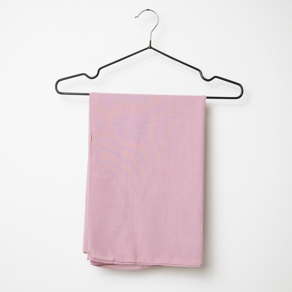 طرحه قماش فتنامي حرير ساده لون وردي فاتح