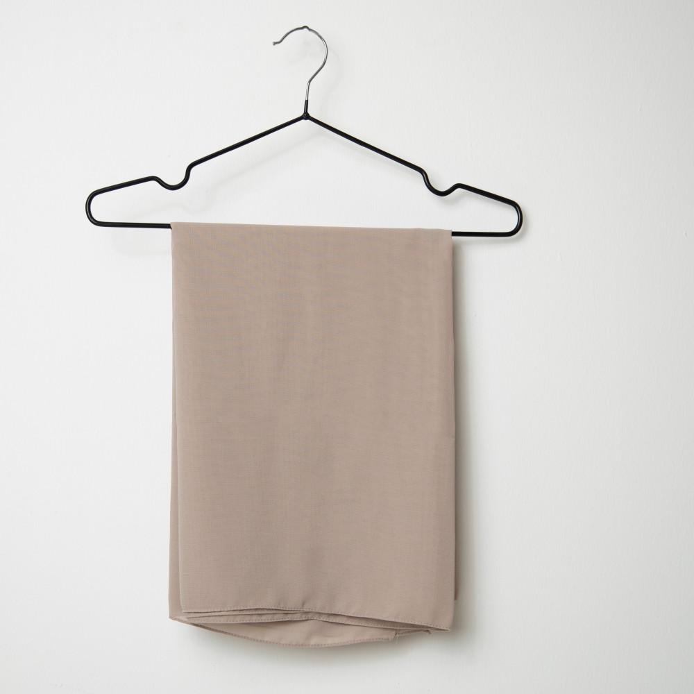 طرحه قماش فتنامي حرير ساده لون بني