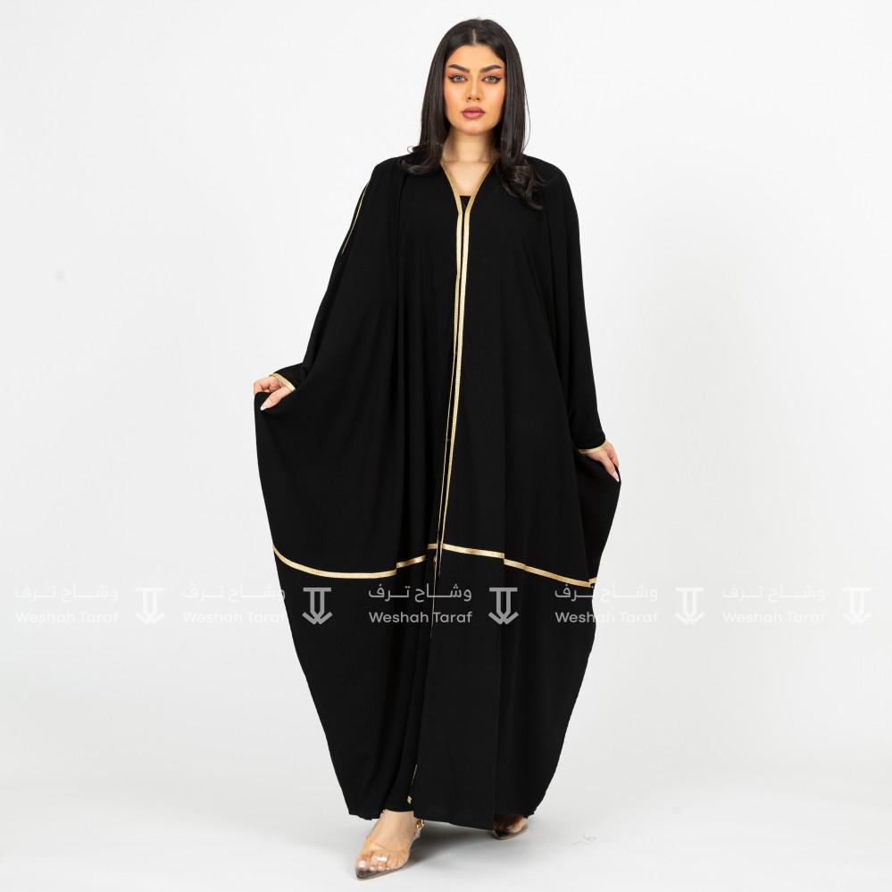عباية قماش زوم اندونيسي بشت كلفة أسود
