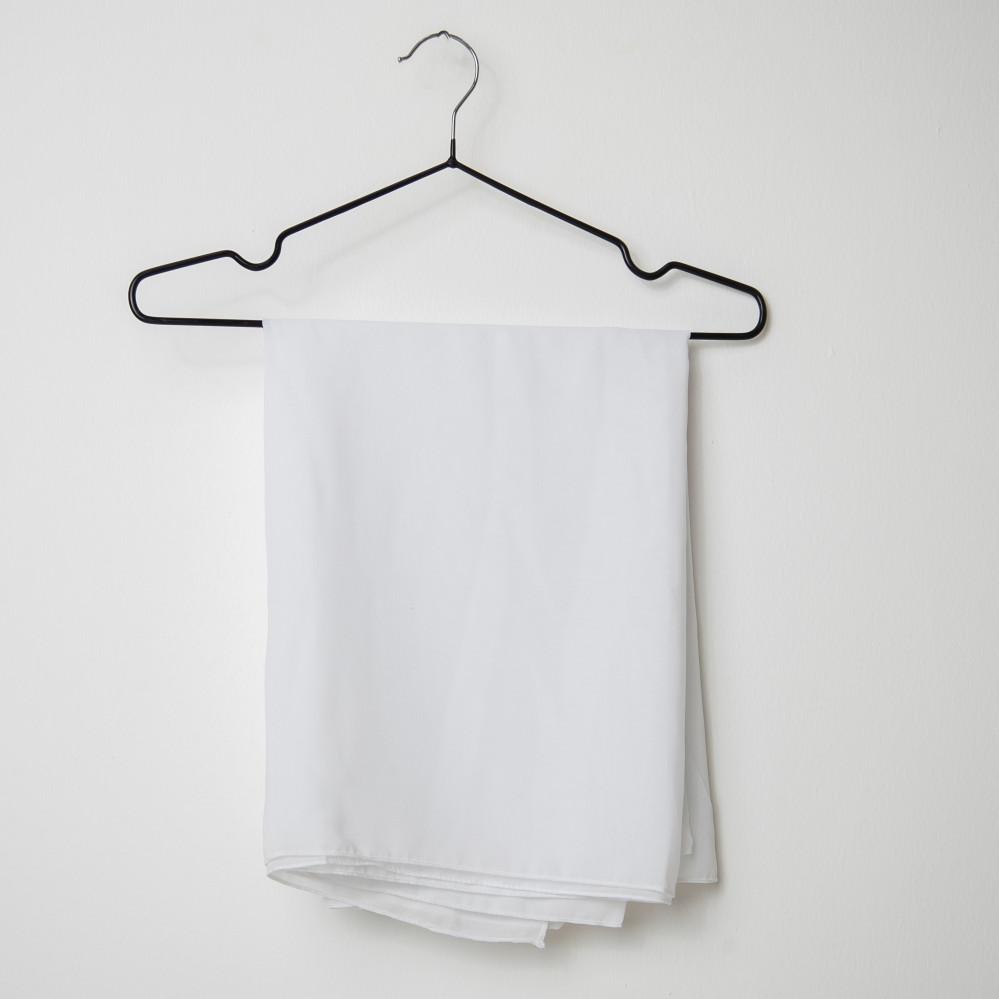 طرحه قماش فتنامي حرير ساده لون أبيض