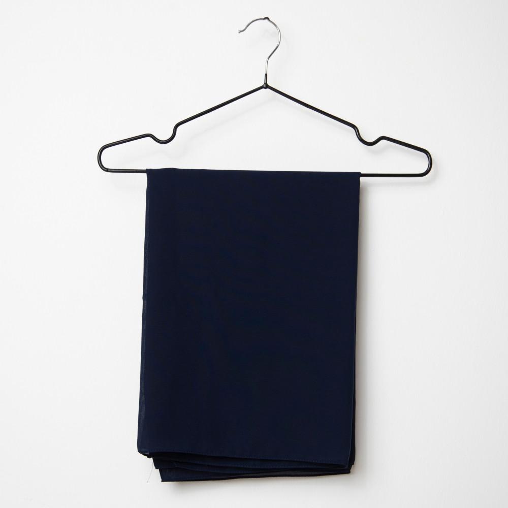 طرحه قماش فتنامي حرير ساده لون كحلي