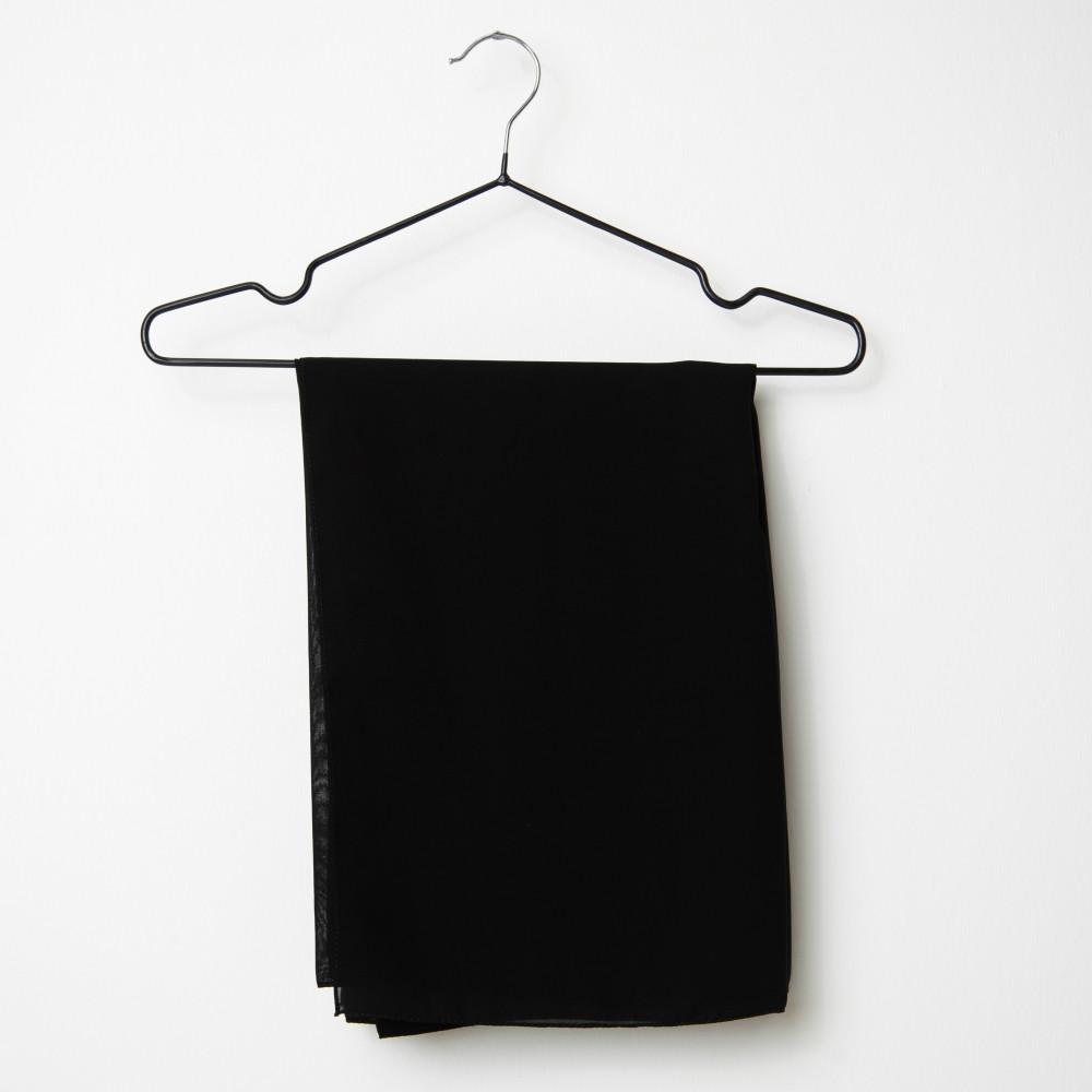 طرحه قماش فتنامي حرير ساده لون أسود