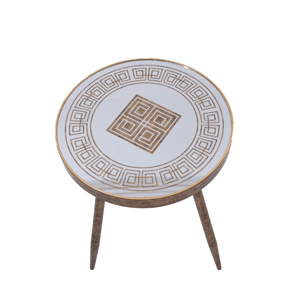 طاولة شاي ذهبي cx007 من كاما