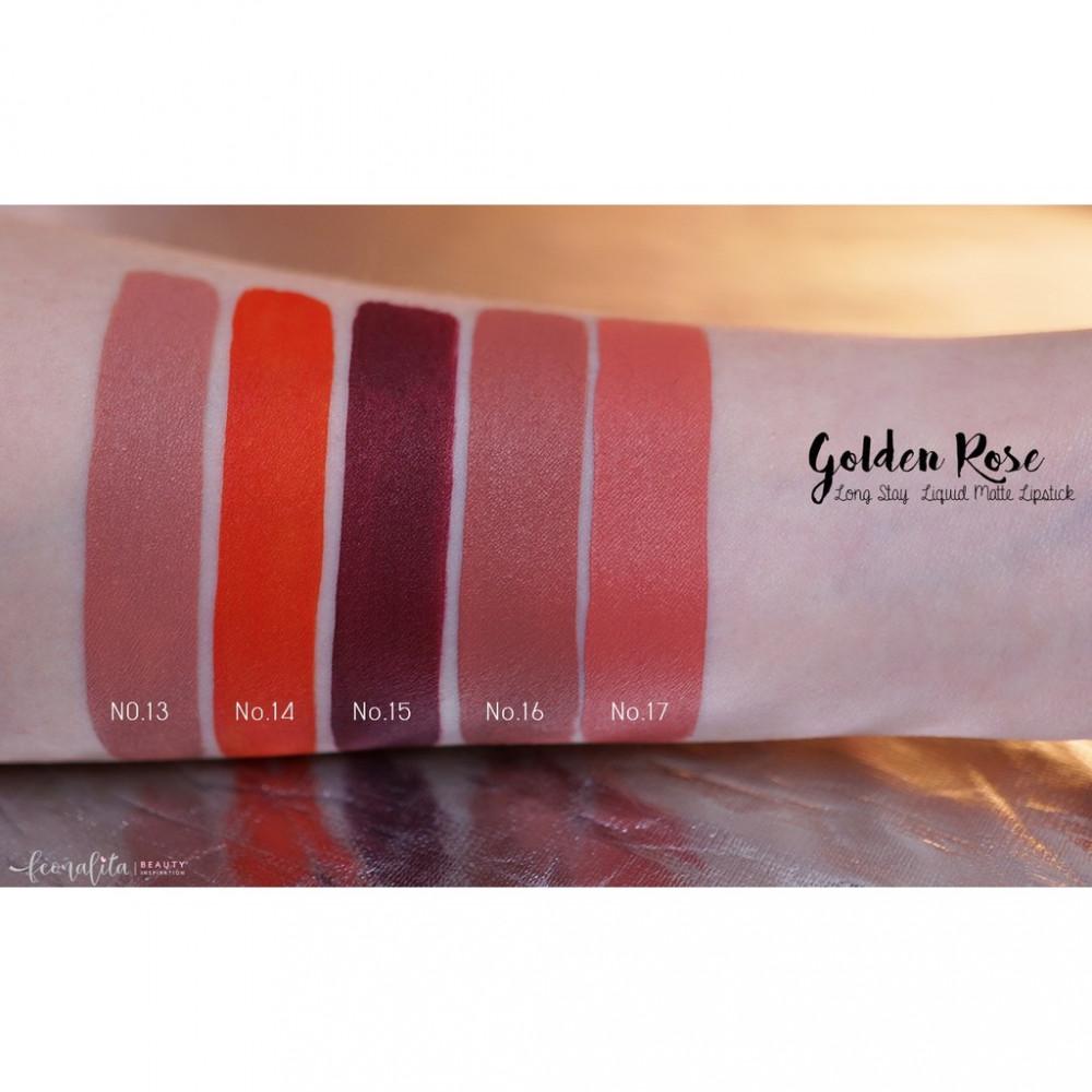 golden rose longstay liquid matte lipstick روج قولدن روز 17