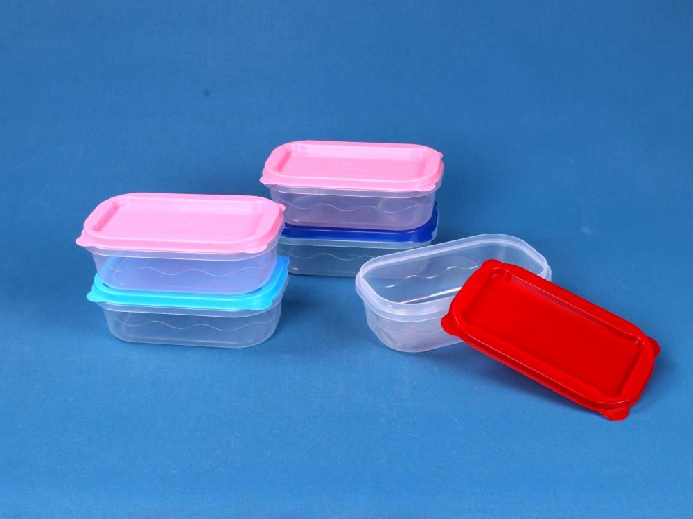 حافظات طعام بلاستيك 5 حبات شركة عالم التوفير للتجارة