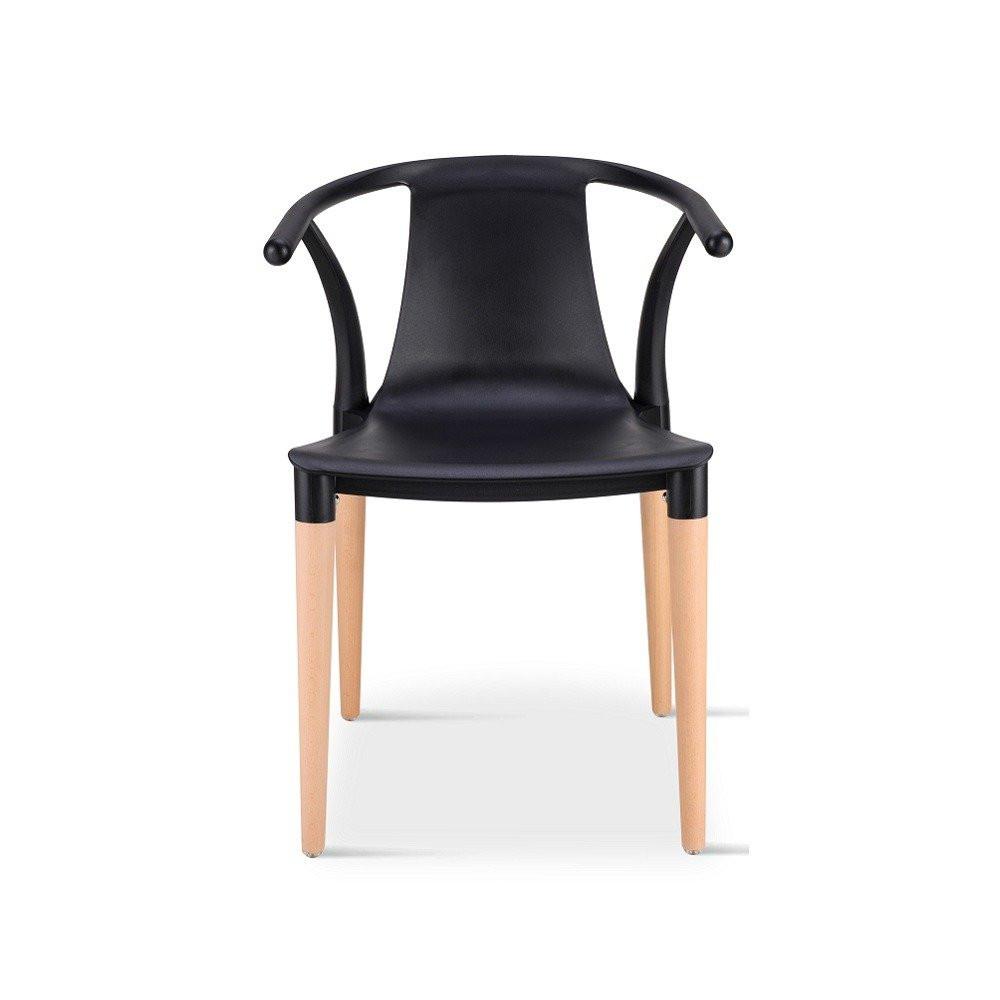 زاوية أمامية ومباشرة لكرسي من مواسم في طقم كراسي أسود ماركة نيت هوم
