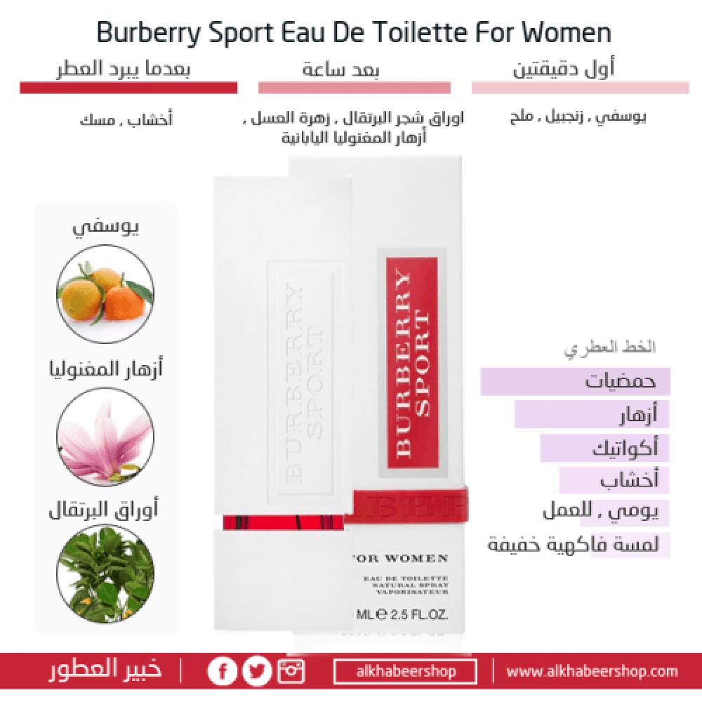 Burberry Sport for Women Eau de Toilette 50ml خبير العطور