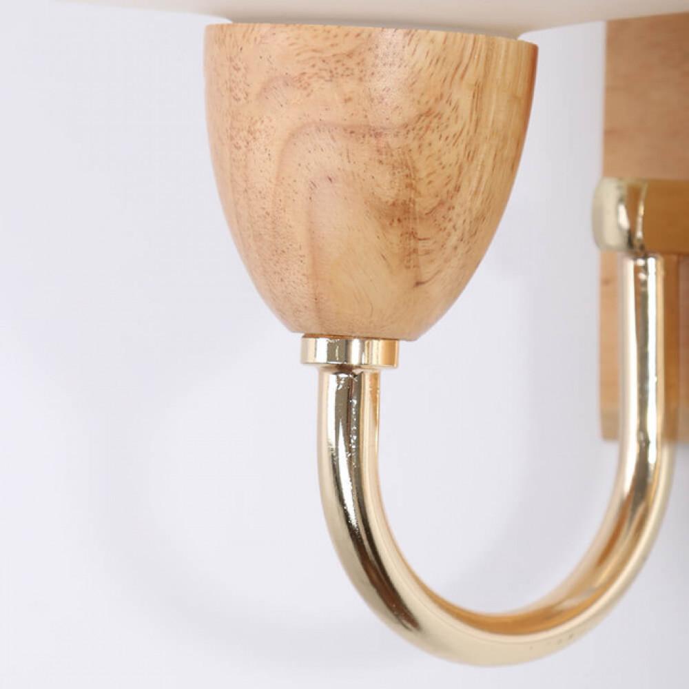 اضاءة جانبية داخلية خشبية مجوز مع زجاج مثلج - فانوس