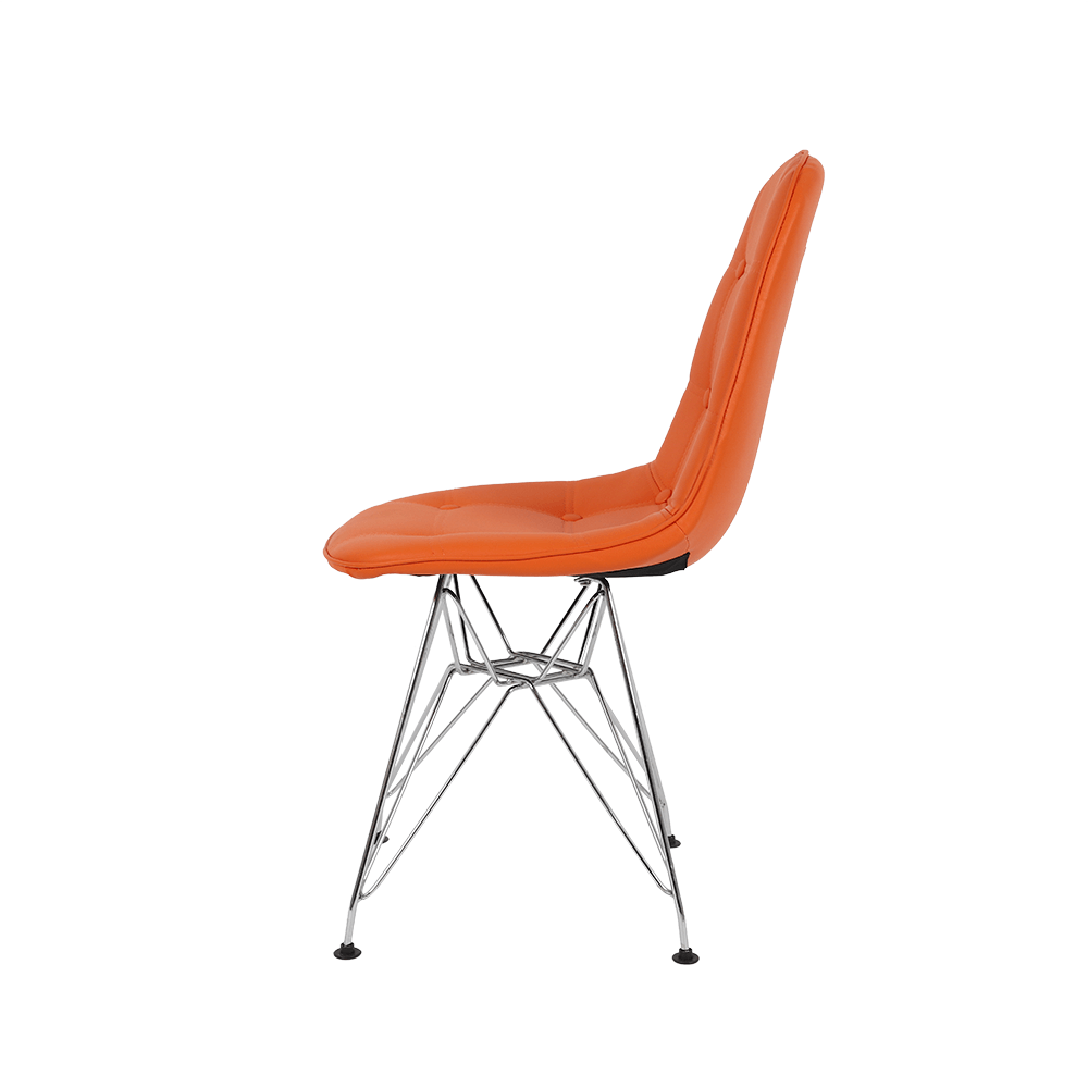 رؤية جانبية للكرسي في طقم كراسي برتقالي ماركة نيت هوم من ديل يوتريد