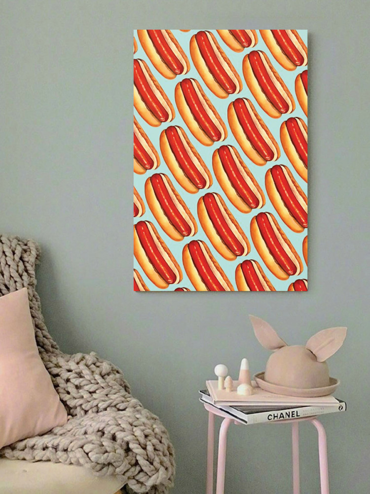 لوحة هوت دوغ خشب ام دي اف مقاس 40x60 سنتيمتر