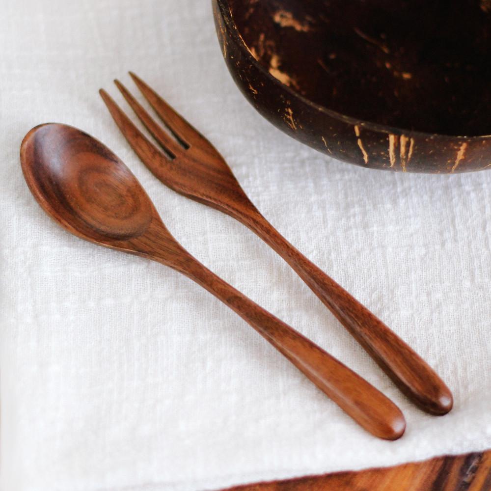 ملعقة طعام خشب ملاعق خشبية خشب الجوز الخشب الطبيعي أفضل أنواع الخشب