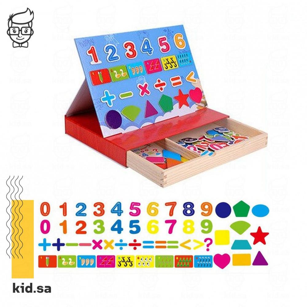 لعبة تعليم الارقام للاطفال خشبية مغناطيس