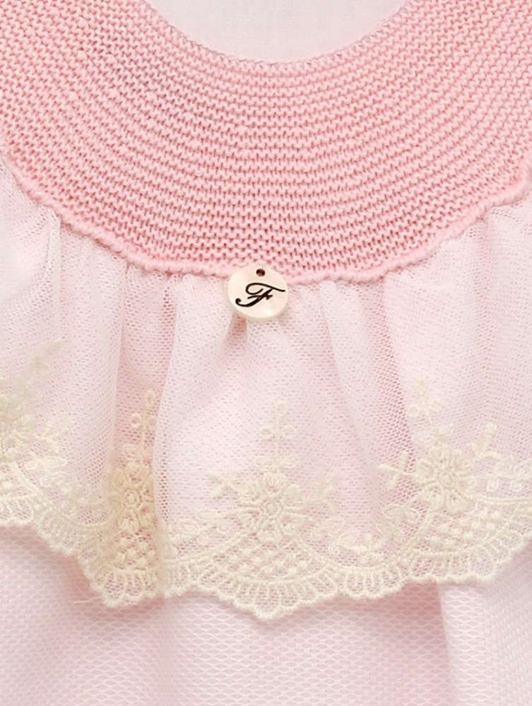 فستان راقي  باللون الزهري من ماركة Foque  من دوها
