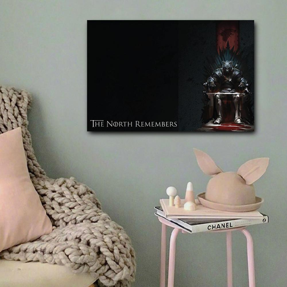 لوحة جيم اوف ثرونز خشب ام دي اف مقاس 40x60 سنتيمتر