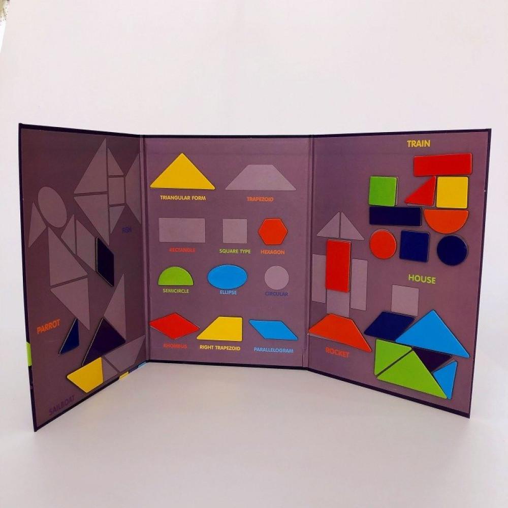 لعبة الكتاب المغناطيسي للاشكال الهندسية