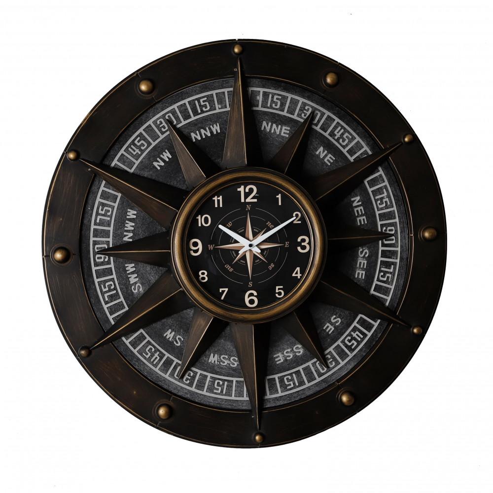 صور ساعة حائط أنتيكة موديل كومباس شكل البوصلة بأرقام صناعة معدنية