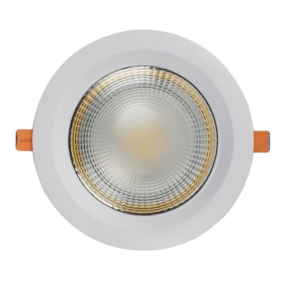 مصباح لد دائري COB داخلي مخفي 50 شمعه 220 فولت 50-60 هيرتز اللون ابيض