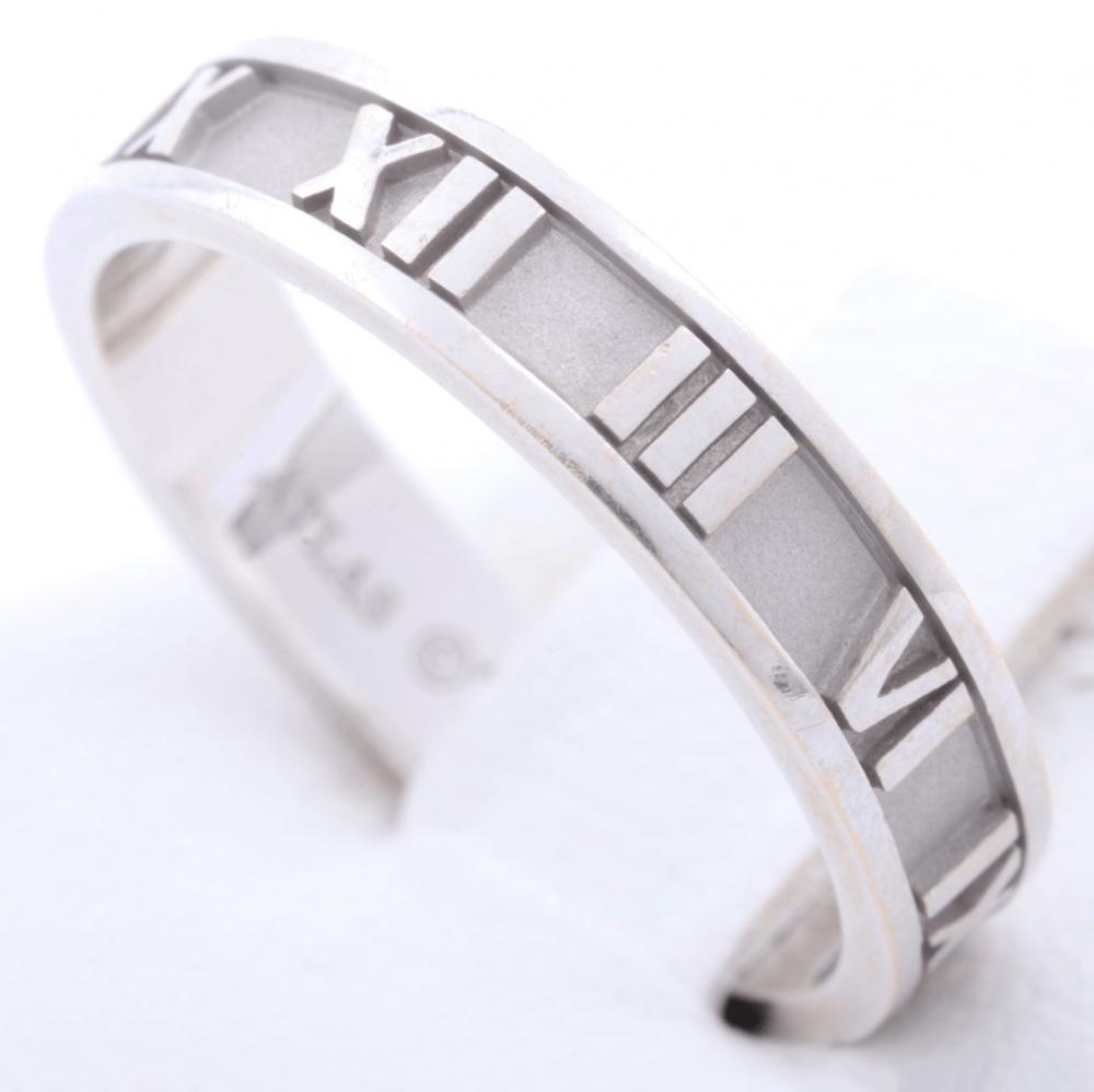 خاتم تيفاني أتلاس ذهب أبيض الأصلي مستخدم