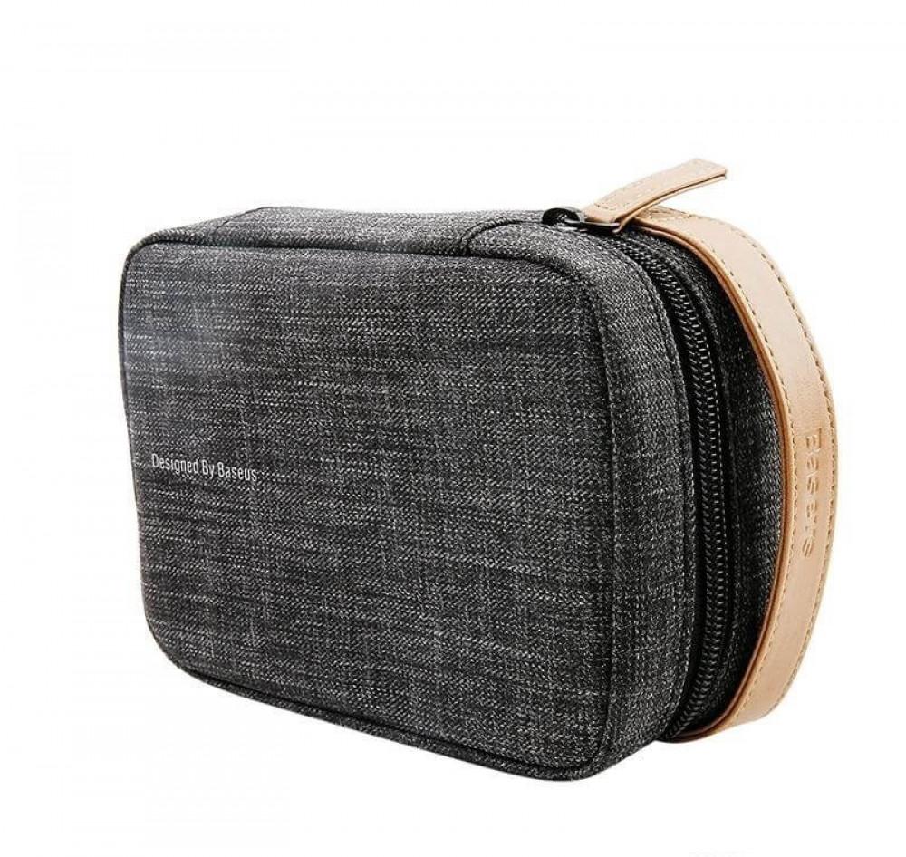 حقيبة يد فاخره مناسبة للتنقل والسفر  من بيسوس - رصاصي