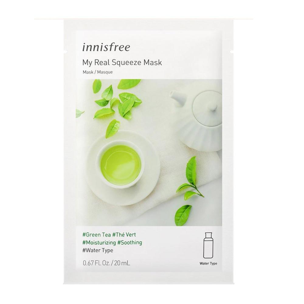 ماسك الشاي الأخضر Innisfree أفضل ماسك للوجه ماسكات متجر منتجات كورية