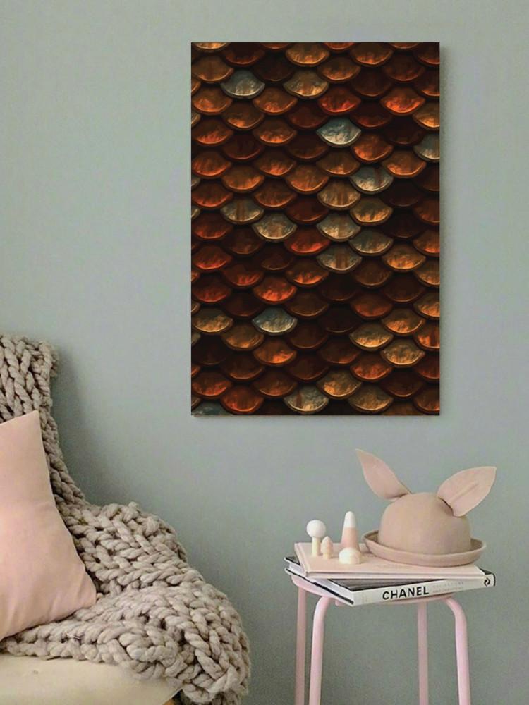 لوحة جلد السمكة خشب ام دي اف مقاس 40x60 سنتيمتر