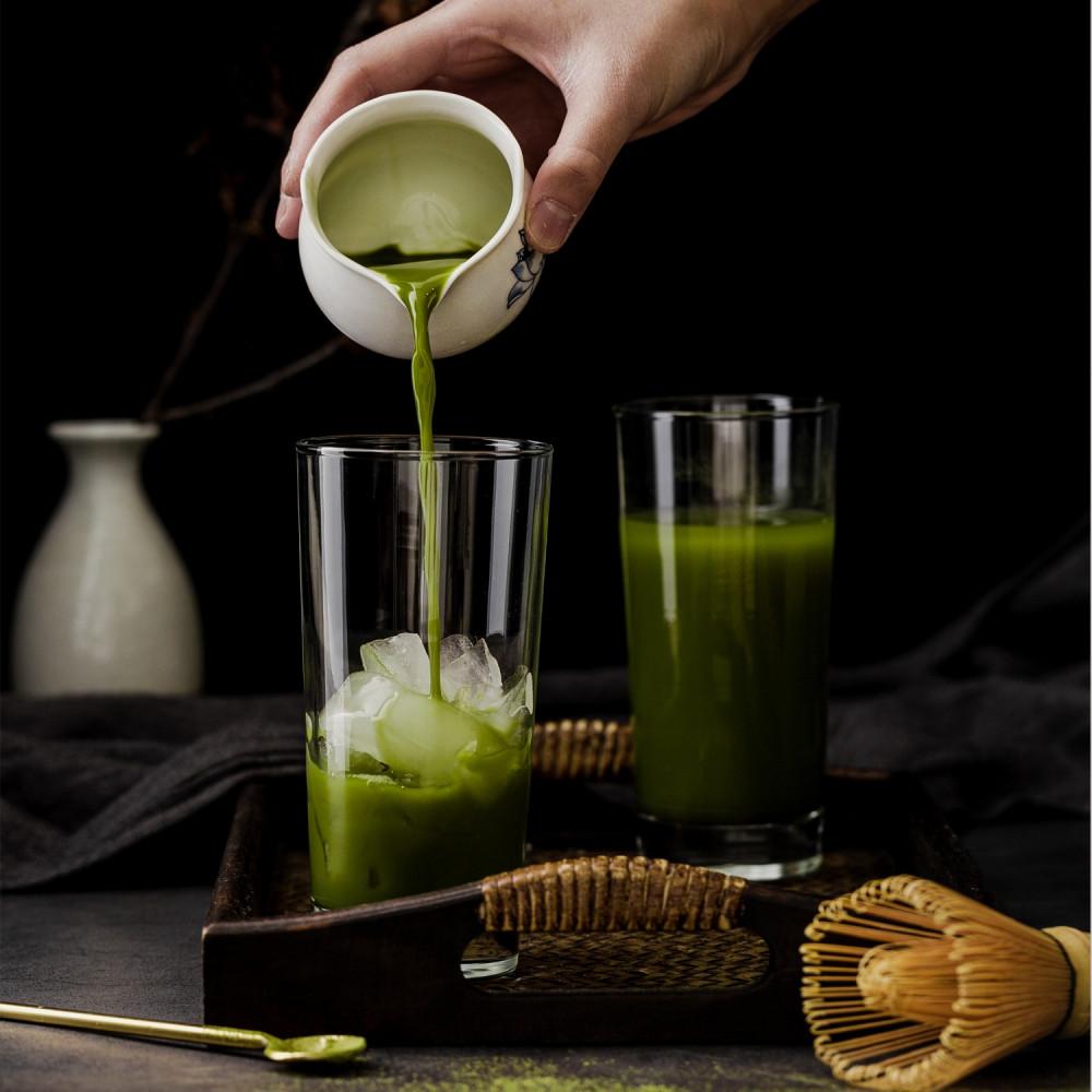 الماتشا شاي ماتشا الياباني طريقة عمل ماتشا لاتيه شاي ياباني آيسد لاتيه