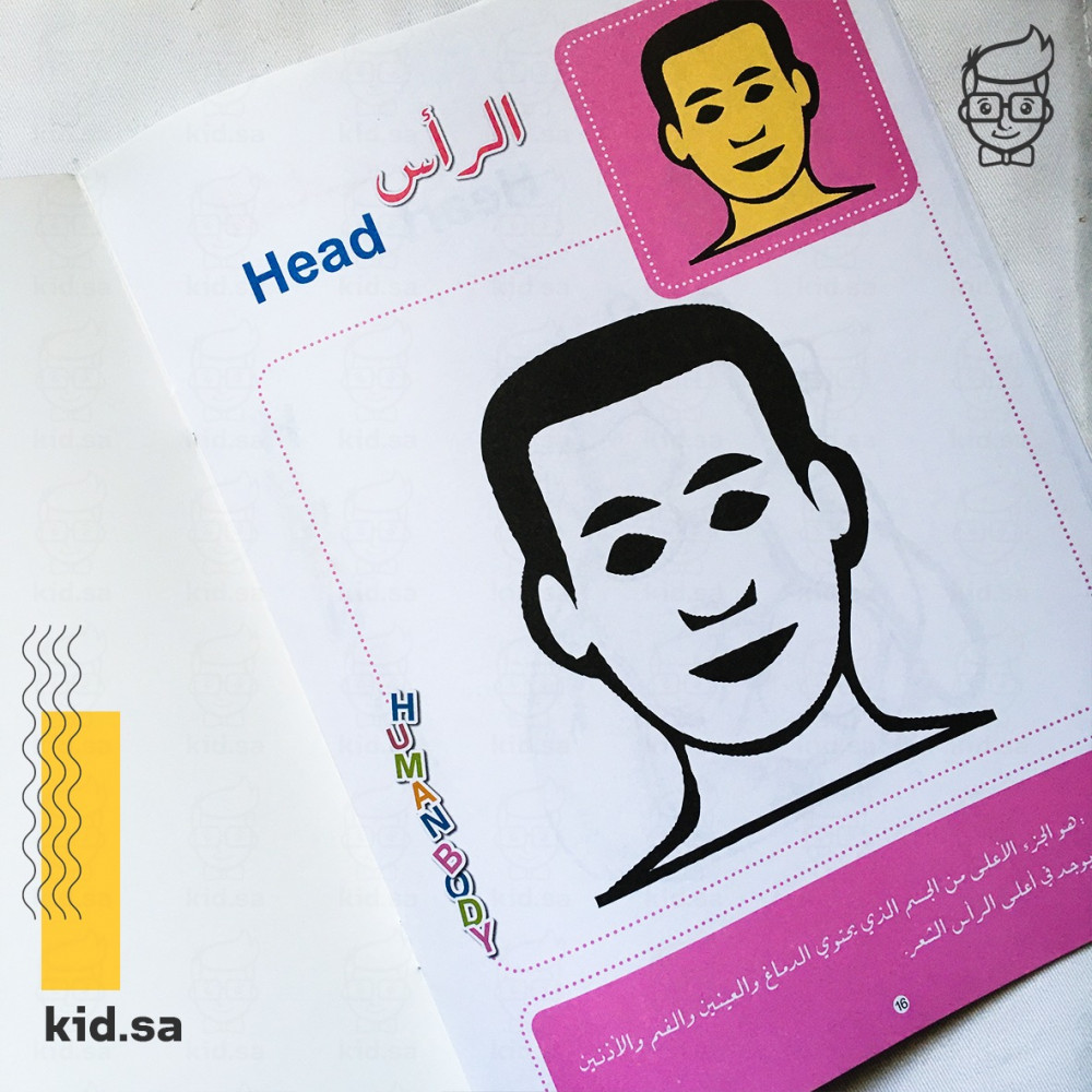 اجزاء الجسم عربي انجليزي للاطفال رأس Head