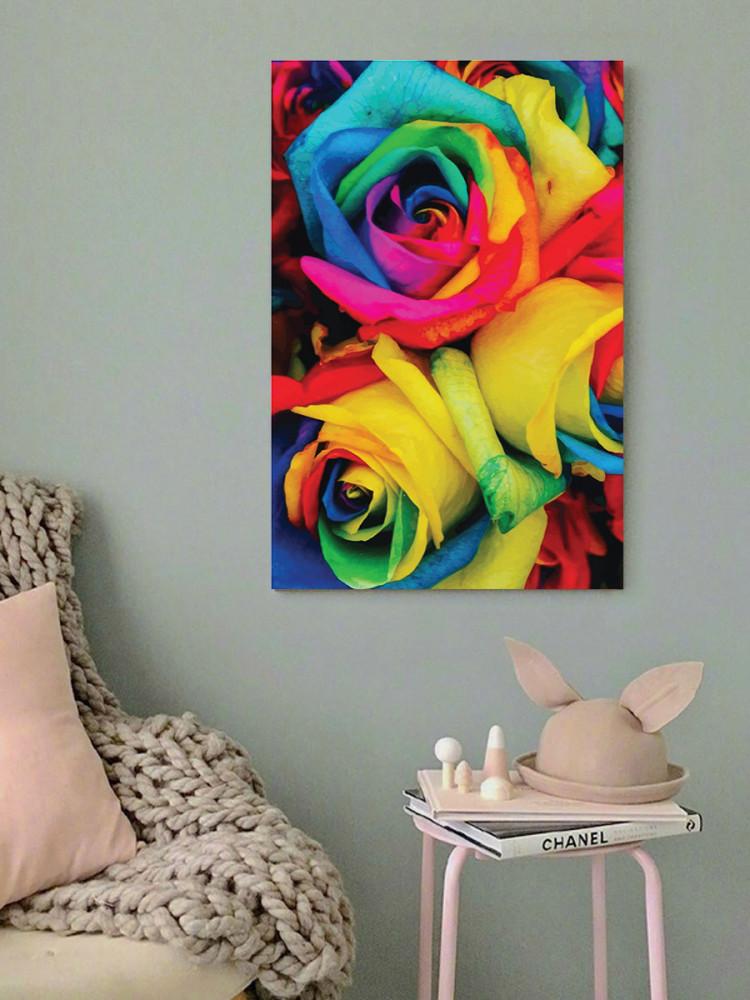 لوحة الورد ألوان زاهية خشب ام دي اف مقاس 40x60 سنتيمتر