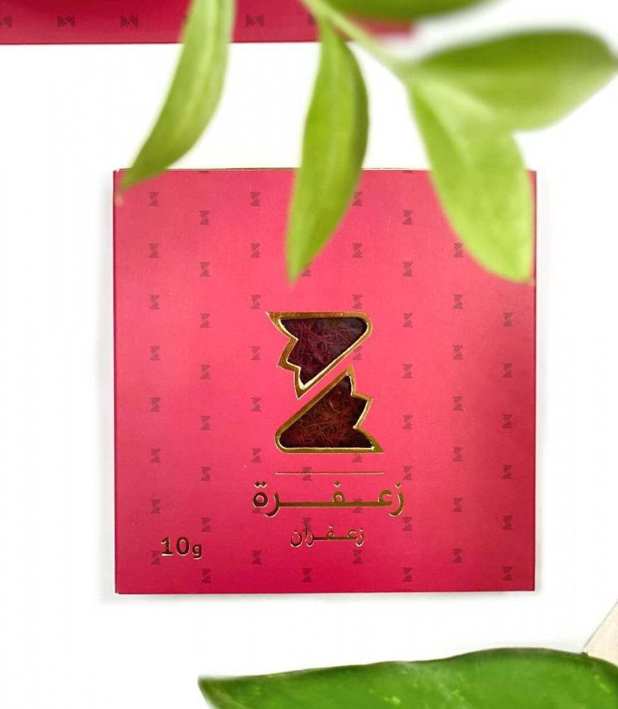 علبة حمراء  تحتوى على زعفران سوبر نقيل صافي ونقي وزن 10 جرام