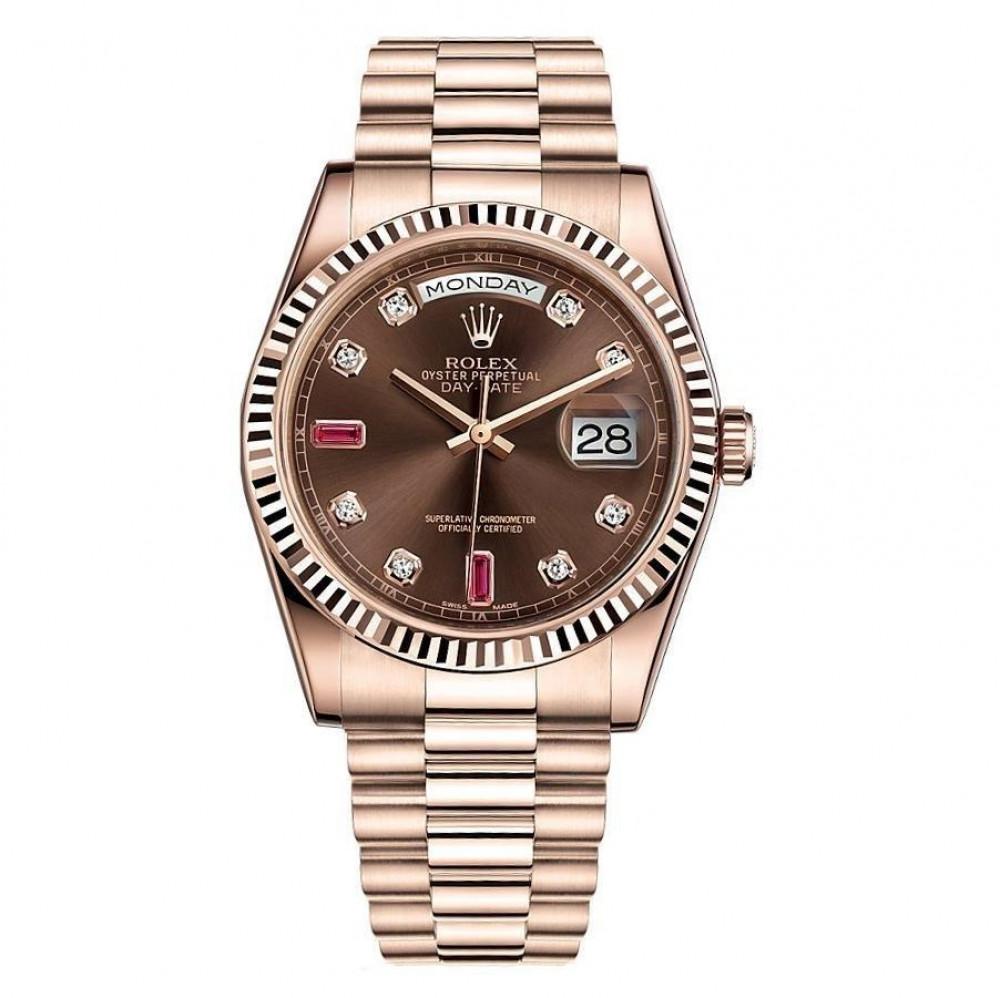 ساعة رولكس داي ديت الأصلية الثمينة مستخدمة