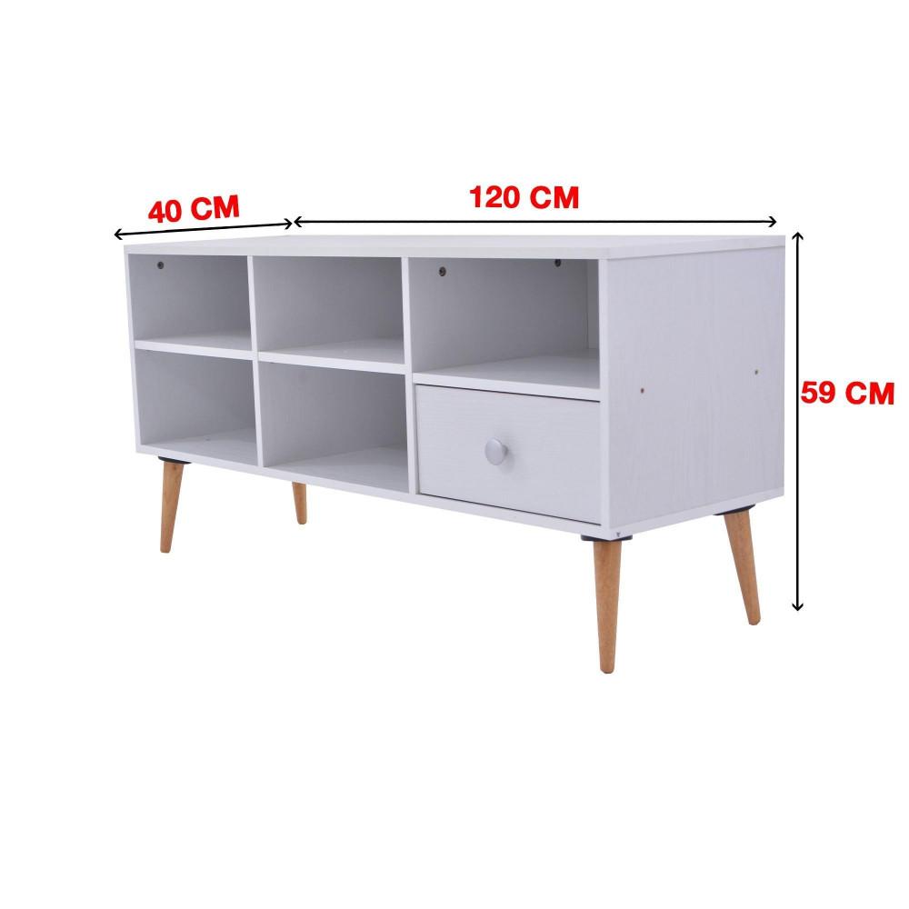 C-120-white ash 0120 طاولة تلفزيون من كاما