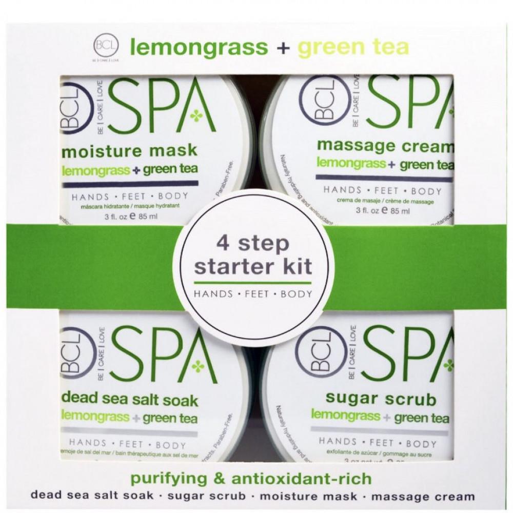 مجموعة العناية بالايدي والاقدام bcl 4 step starter kit lemongrass  gr