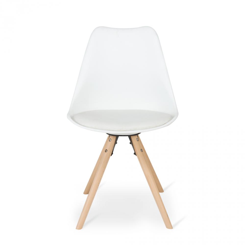 رؤية مباشرة للكرسي بشكل أنيق مع طقم كراسي موديل مودرن أبيض من مواسم