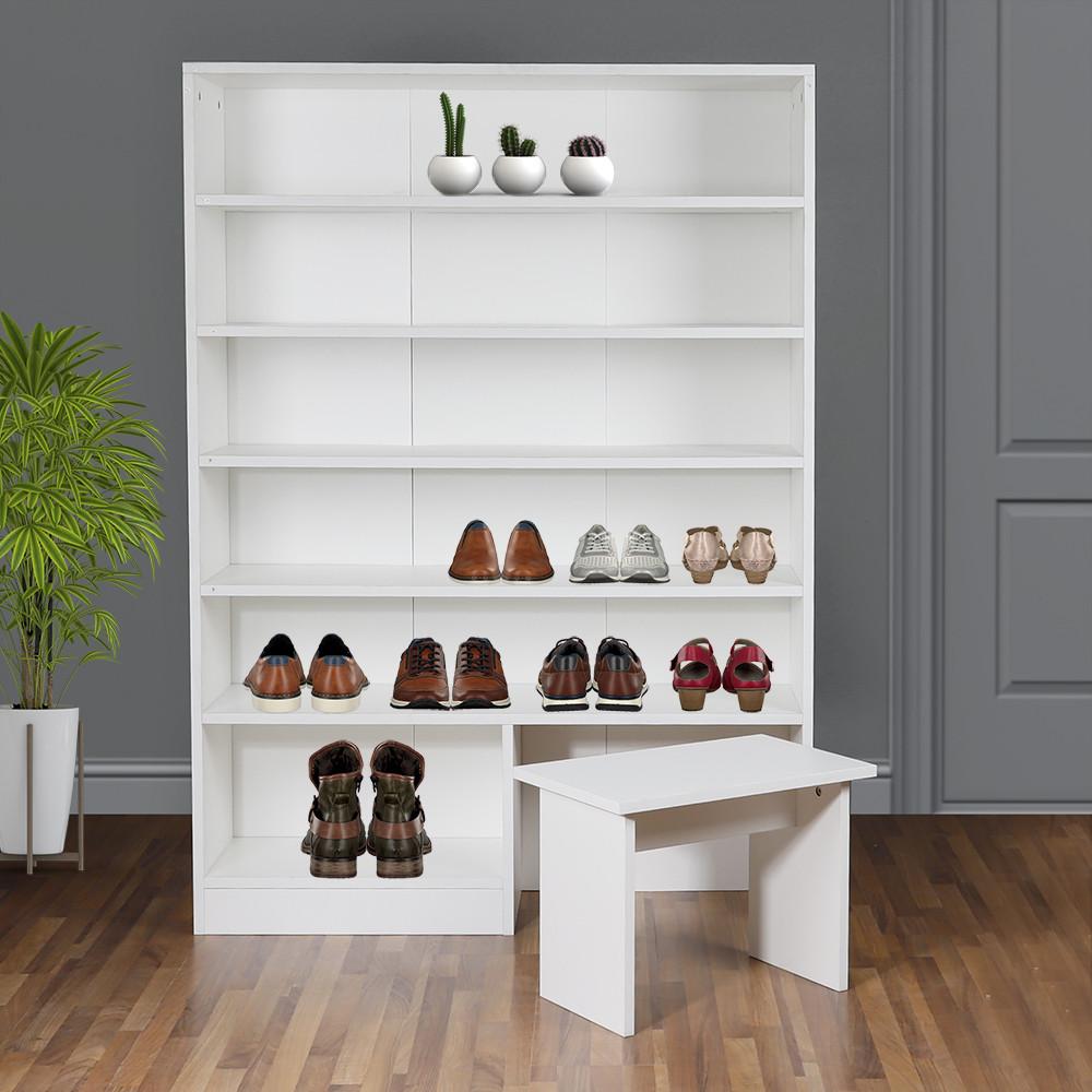 دولاب منظم أحذية جزامة بمقعد موديل هامبورغ بتصميم مميز خشب عالي الجودة