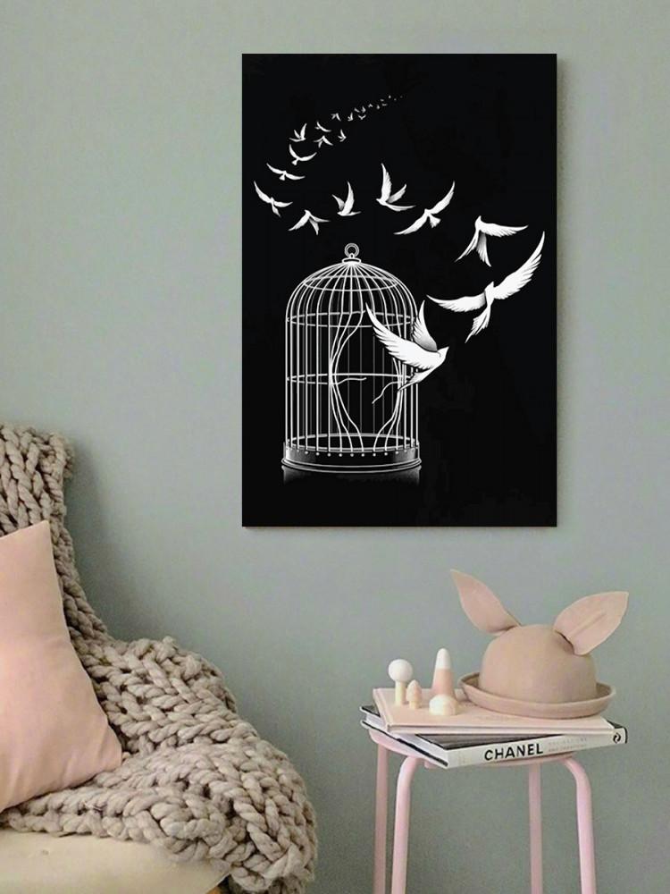لوحة الحرية خشب ام دي اف مقاس 40x60 سنتيمتر
