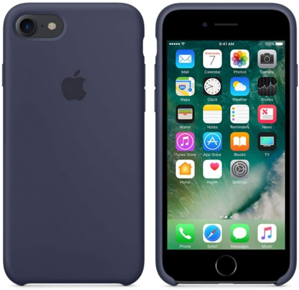 iPhone 8 - iPhone 7 Silicone Case  - Midnight Blue