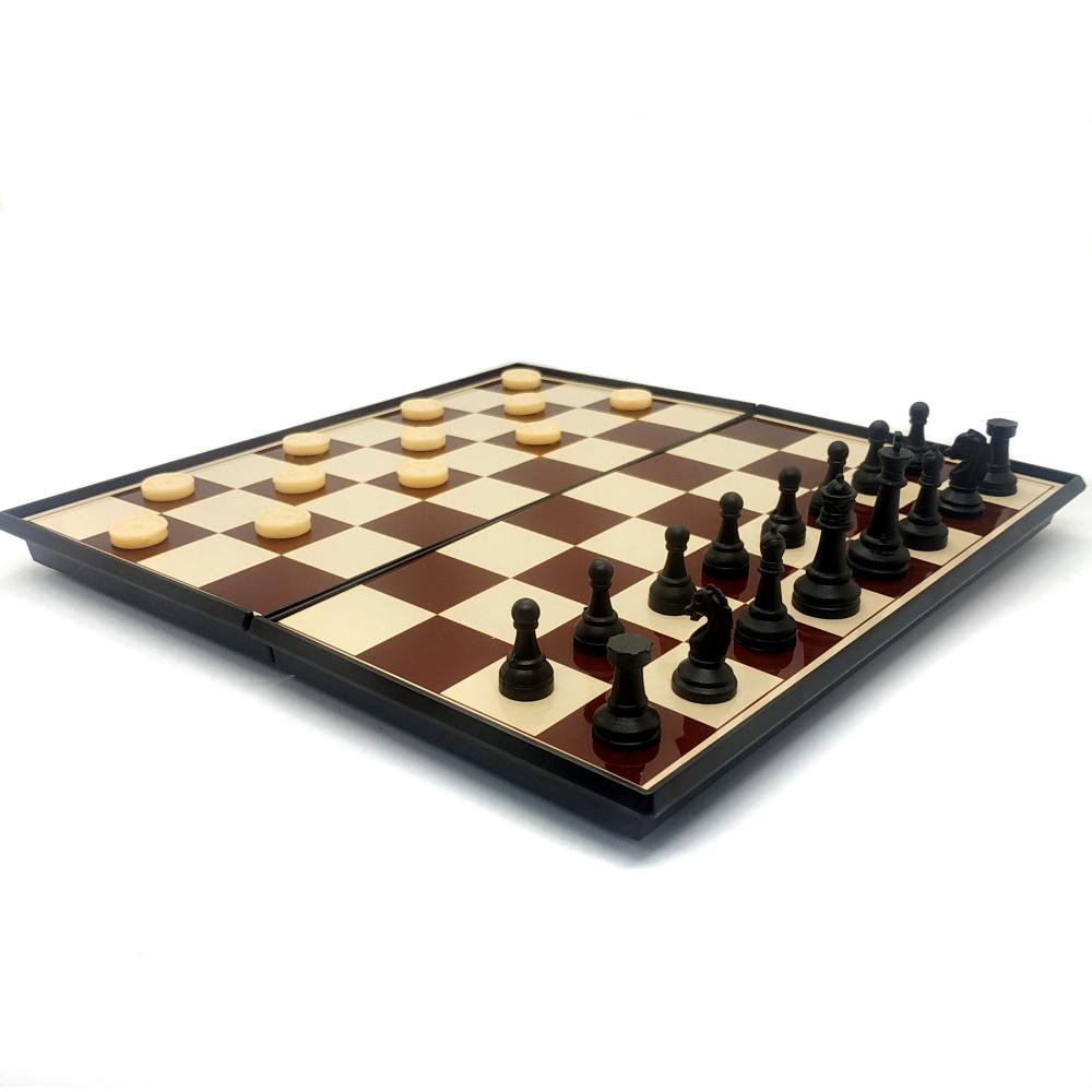 داما و شطرنج مغناطيس لعبة ثنائية طاولة شطرنج بسعر مميز شطرنج وداما