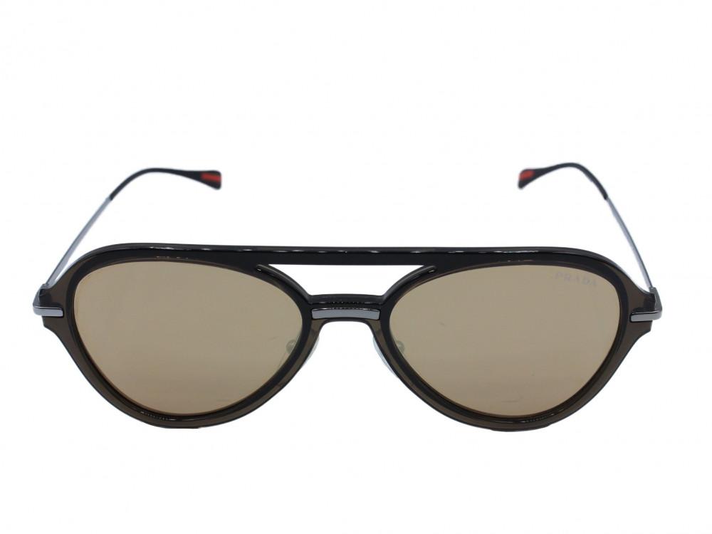 نظاره شمسية بيضاوي من ماركة  PRADA  لون العدسة بني ميرور قولد