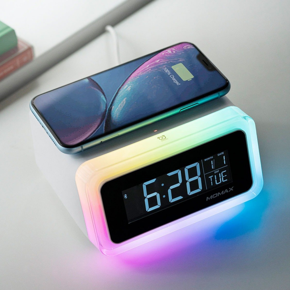 Q Clock 2 Digital Clock with Wireless Charger